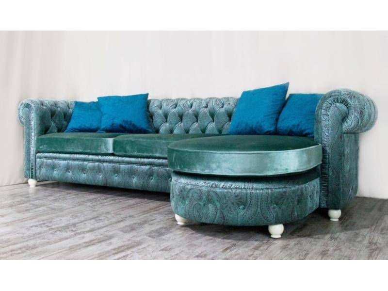 Диван Chesterfield с оттоманкой